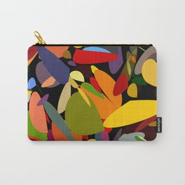 Colorful pebbles on black Carry-All Pouch