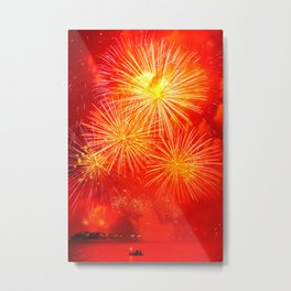 Fireworks on Sydney Harbour Metal Print