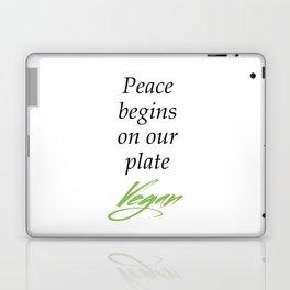 Peace begins on our plate - Vegan Laptop & iPad Skin
