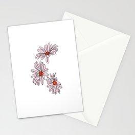 Daisy botanical line illustration - Bud Stationery Cards