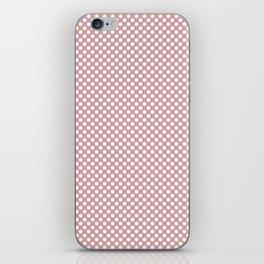 Bridal Rose and White Polka Dots iPhone Skin