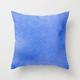 Azure watercolor Throw Pillow
