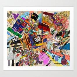 Kandinsky Style Geometric Painting Art Print