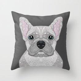 Cream French Bulldog Throw Pillow