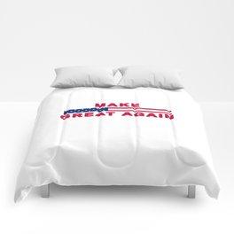 MAGA tee shirt trump supporter - Make America Great Again Comforters