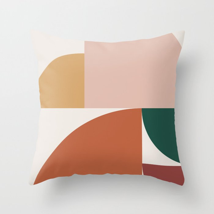 Abstract Geometric 10 Throw Pillow