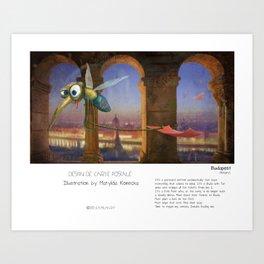 """Budapest"" in words & image (M.Konecka) Art Print"