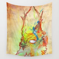 archan nair Wall Tapestries featuring Turning Light by Archan Nair