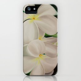 white plumerias II iPhone Case