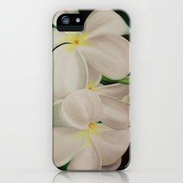white plumerias II iPhone Case