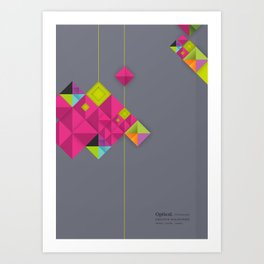 Optical illusion_grey Art Print