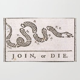 Join or Die Rug