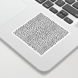 Dalmatian Spots (black/white) Sticker