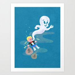 Where do friendly ghosts come from? Art Print