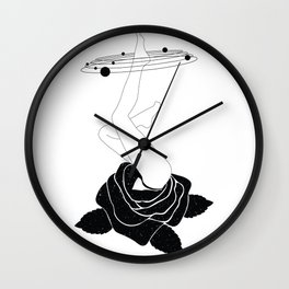 Space mystery Rose solar system Wall Clock