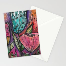They live under flowers Stationery Cards