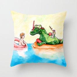 Croco Bath Throw Pillow
