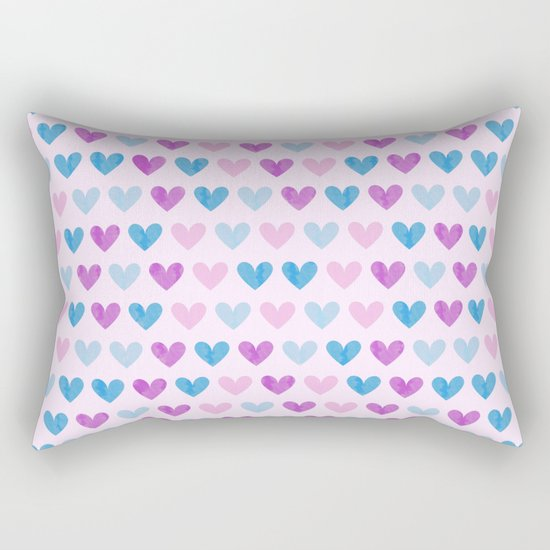 Colorful hearts VII Rectangular Pillow