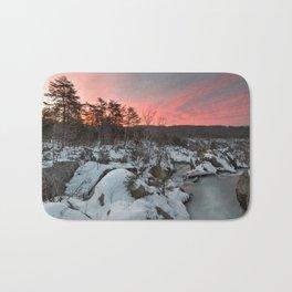 Great Falls Winter Twilight Bath Mat
