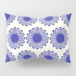 vintage flowers blue  Pillow Sham