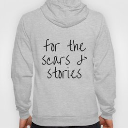 """FOB lyrics """"for the scars and stories"""" Hoody"""
