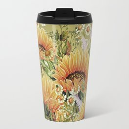Vintage Garden 5 (Sunflower Field) Travel Mug