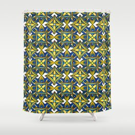 Cheerful Pottery Pattern Shower Curtain