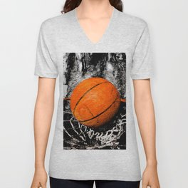 The basketball Unisex V-Neck