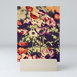 selective focus photography of beautiful flower Mini Art Print