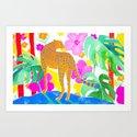 Jaguar in Tropical Garden by sunlee_art