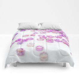 Pink and Purple beads Comforters