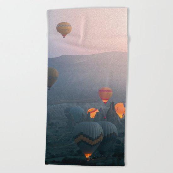 Balloons over Cappadocia Beach Towel