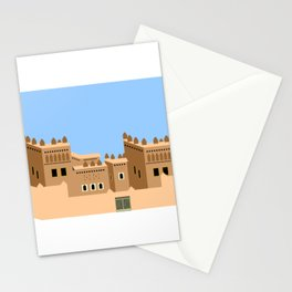 Wall art the door of desert Stationery Cards