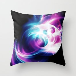 abstract fractals 1x1 reacc80 Throw Pillow