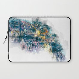 Houses village coast Italy Laptop Sleeve
