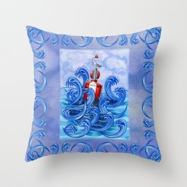 Hold on to the Buoy of Love Throw Pillow