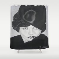 silent Shower Curtains featuring Silent Glamour by Cindy's Art