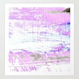 Purple and White Hue Abstract Art Print