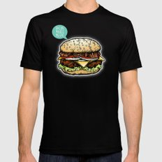 Epic Burger Mens Fitted Tee Black MEDIUM