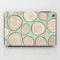 tree rings iPad Cases featuring Tree Rings by Jackie Sullivan