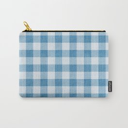 Blue Gingham Denim Country Pattern Carry-All Pouch