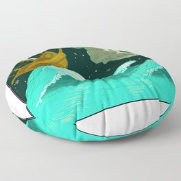All Ships Rise With The Tide Floor Pillow