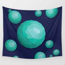 Low Poly Spheres Wall Tapestry