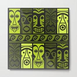 Keen Green Tikis! Metal Print