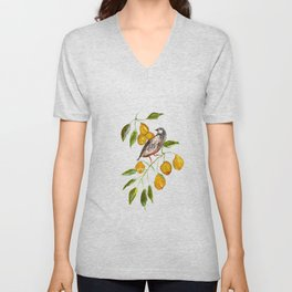 Partridge In a Pear Tree Unisex V-Neck