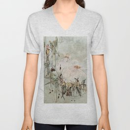 """Exotics at Play"" by Duncan Carse Unisex V-Neck"