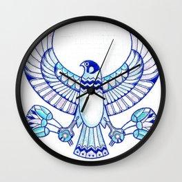 Falcon holding lotuses II Wall Clock