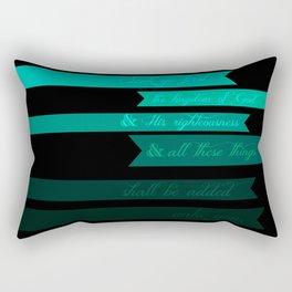 FIRST (MATTHEW 6:33) Rectangular Pillow