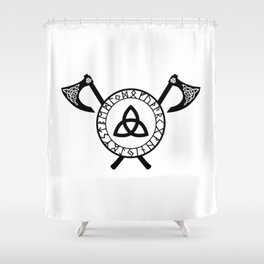 Norse Axe - Celtic Knot Shower Curtain
