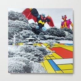 Mondrian Z Metal Print